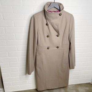 Old Navy wool blend trench coat missing button M